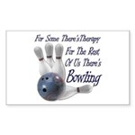 Bowling Therapy Sticker (Rectangle 10 pk)