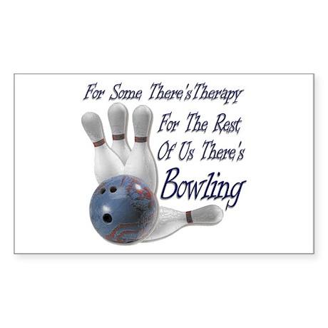 Bowling Therapy Sticker (Rectangle 10 pk)