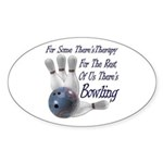 Bowling Therapy Sticker (Oval 50 pk)