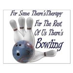 Bowling Therapy Small Poster