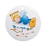 Sleeping Amour Ornament (Round)