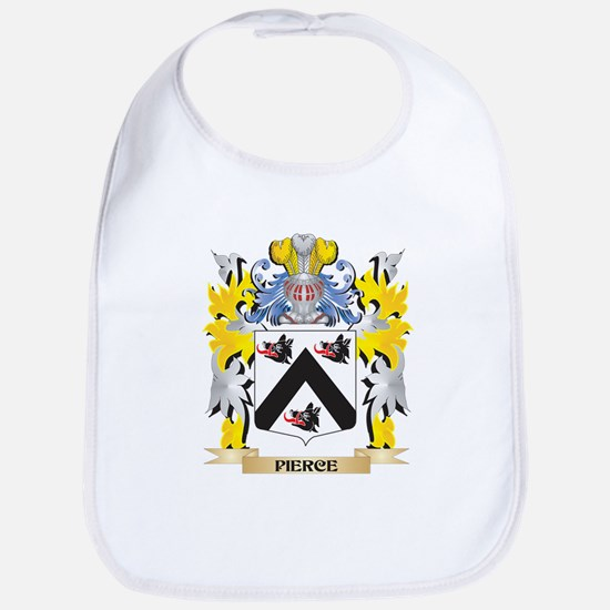 Pierce Family Crest - Coat of Arms Baby Bib