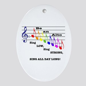 Be an Alto Oval Ornament