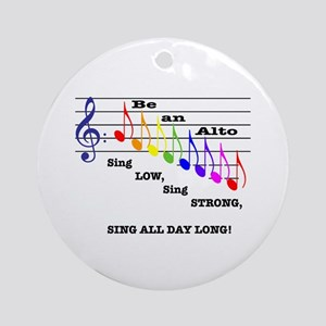 Be an Alto Ornament (Round)