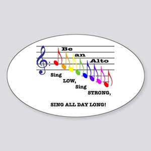 Be an Alto Oval Sticker