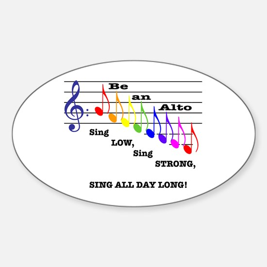 Be an Alto Oval Decal