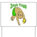 Irish Yoga Yard Sign
