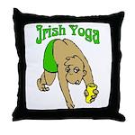 Irish Yoga Throw Pillow
