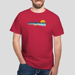 Newport Beach RI - Beach Design Dark T-Shirt