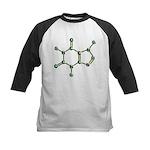 Caffeine Molecule Kids Baseball Jersey
