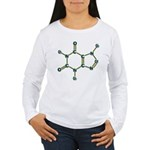 Caffeine Molecule Women's Long Sleeve T-Shirt