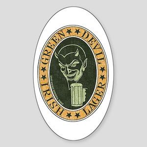 Green Devil Lager Sticker (Oval)