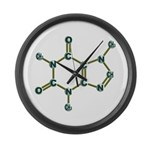 Caffeine Molecule Large Wall Clock