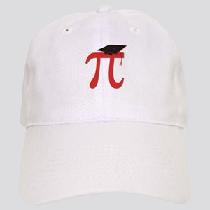 Red Pi Grad Cap