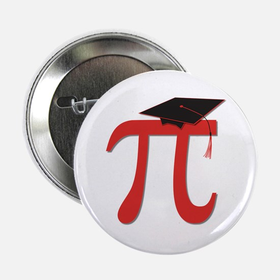 "Red Pi Grad 2.25"" Button"