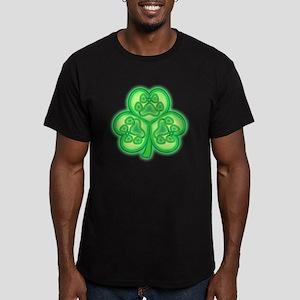 Rover Clover Men's Fitted T-Shirt (dark)
