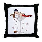 Boston Girl Martini Throw Pillow