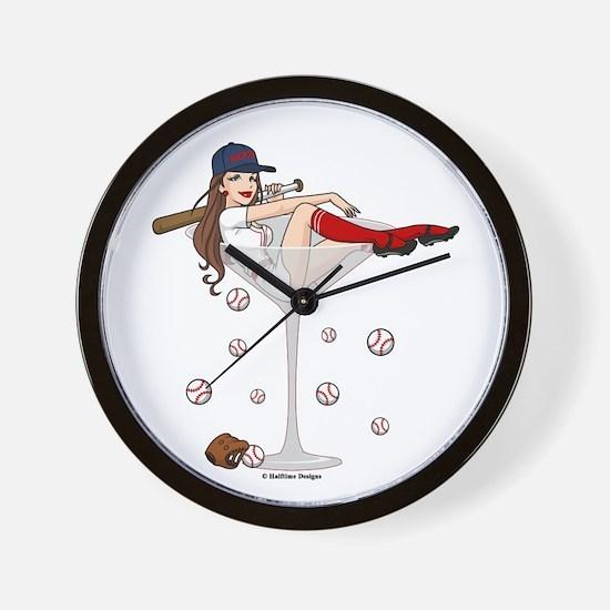 Boston Girl Martini Wall Clock