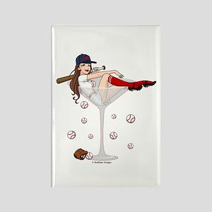 Boston Girl Martini Rectangle Magnet