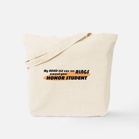 ADHD Kid Runs Rings Tote Bag