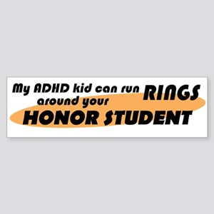 ADHD Kid Runs Rings Sticker (Bumper)