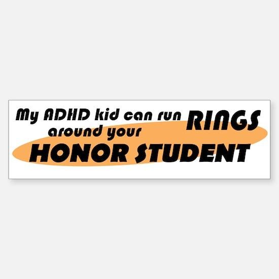 ADHD Kid Runs Rings Sticker (Bumper)