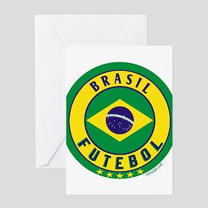 Brasil Futebol/Brazil Soccer Greeting Card