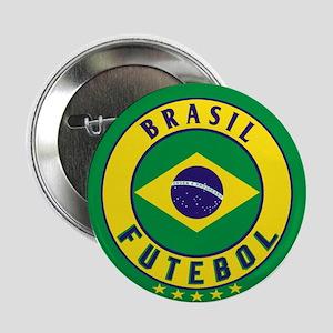"Brasil Futebol/Brazil Soccer 2.25"" Button"