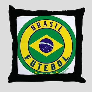 Brasil Futebol/Brazil Soccer Throw Pillow