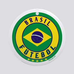 Brasil Futebol/Brazil Soccer Ornament (Round)