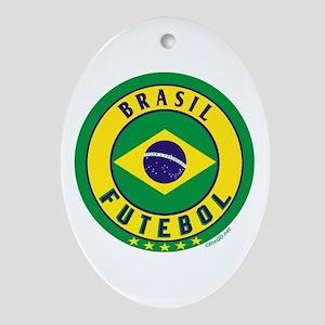 Brasil Futebol/Brazil Soccer Ornament (Oval)