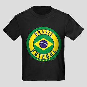 Brasil Futebol/Brazil Soccer Kids Dark T-Shirt