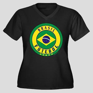 Brasil Futebol/Brazil Soccer Women's Plus Size V-N