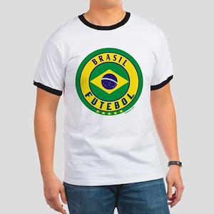 Brasil Futebol/Brazil Soccer Ringer T