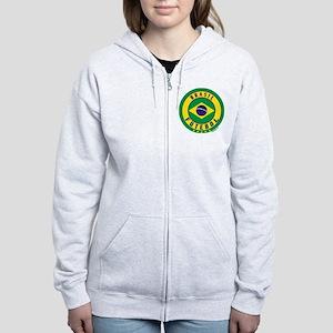 Brasil Futebol/Brazil Soccer Women's Zip Hoodie