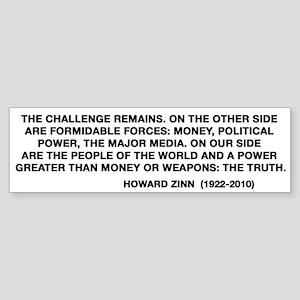 Howard Zinn Sticker (Bumper)