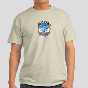 Newport Beach RI - Sailing Design Light T-Shirt