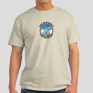 Newport Beach RI - Sailing Design Light T-Shirt