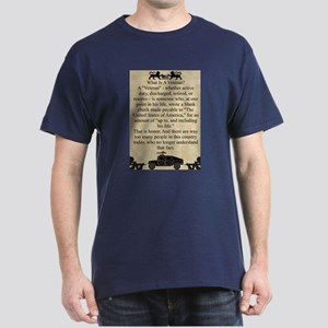 What is a Veteran Dark T-Shirt