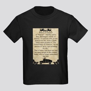 What is a Veteran Kids Dark T-Shirt