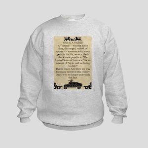 What is a Veteran Kids Sweatshirt