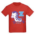 Baby Zebra Kids Dark T-Shirt