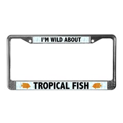 Tropical Fish License Plate Frame
