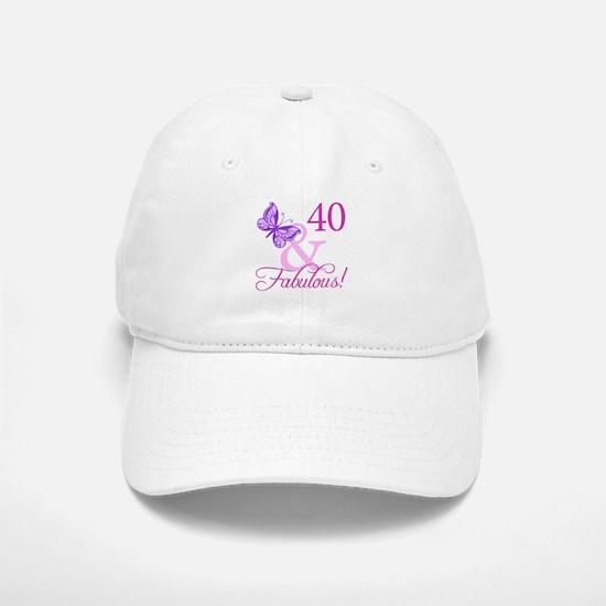 40 & Fabulous (Plumb) Baseball Baseball Cap