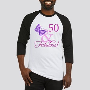 50 & Fabulous (Plumb) Baseball Jersey