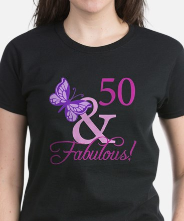 50 & Fabulous (Plumb) Women's Dark T-Shirt