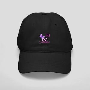 50 & Fabulous (Plumb) Black Cap