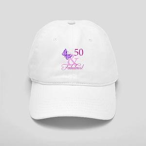 50 & Fabulous (Plumb) Cap