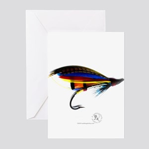 Silver Doctor Salmon Fly Greeting Cards (Pk of 10)
