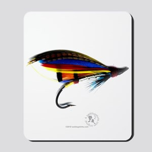 Silver Doctor Salmon Fly Mousepad